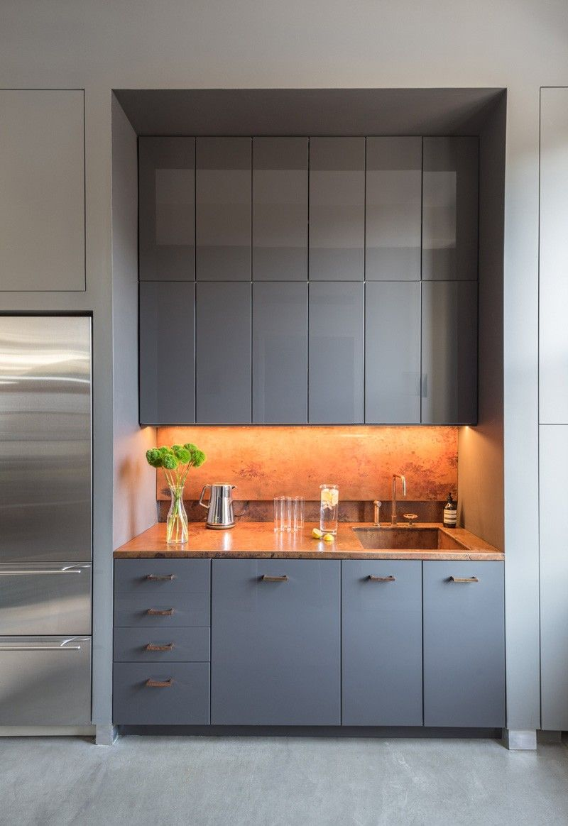 Contemporary kitchen in an office in nyc air park kitchen