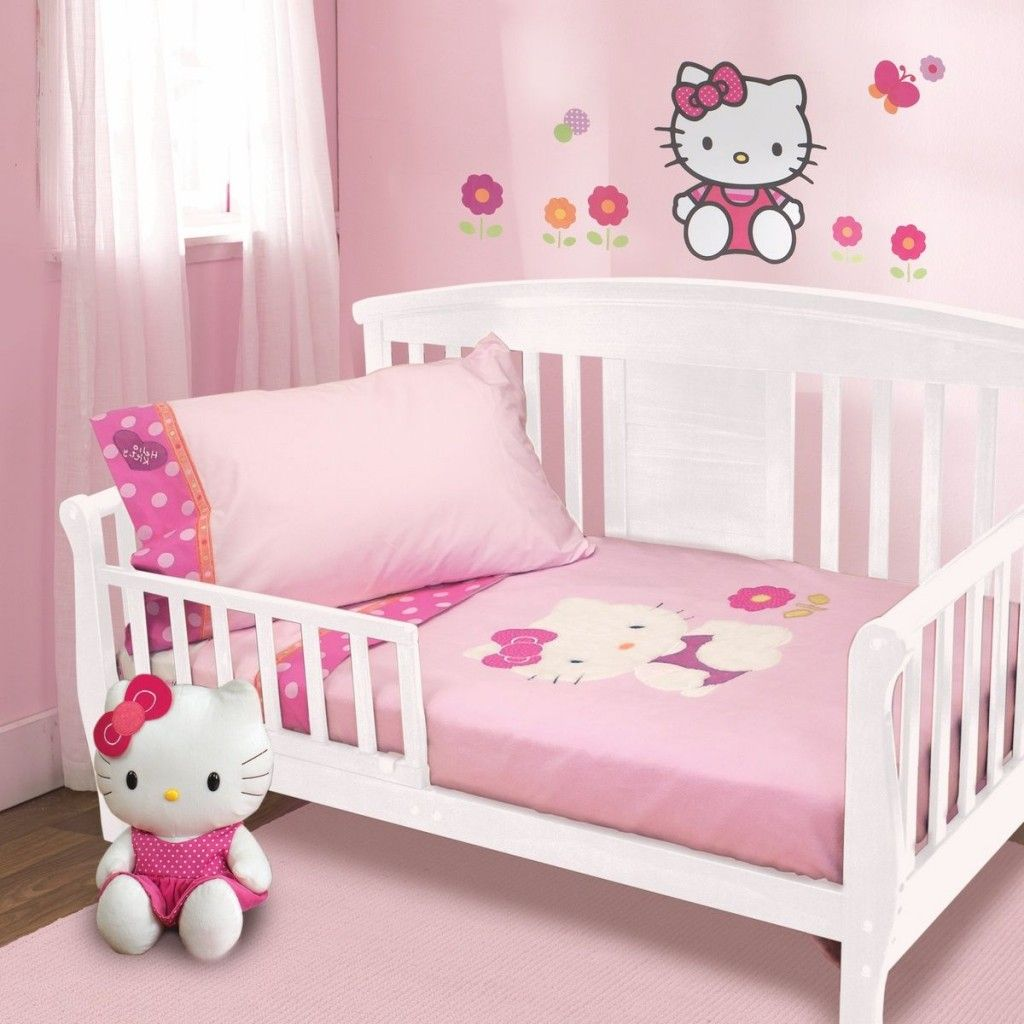 Hello kitty bathroom accessories - Cute Design Hello Kitty Baby Nursery Decor Pink Wall Painting Baby Nursery Hello Kitty Wall Decal