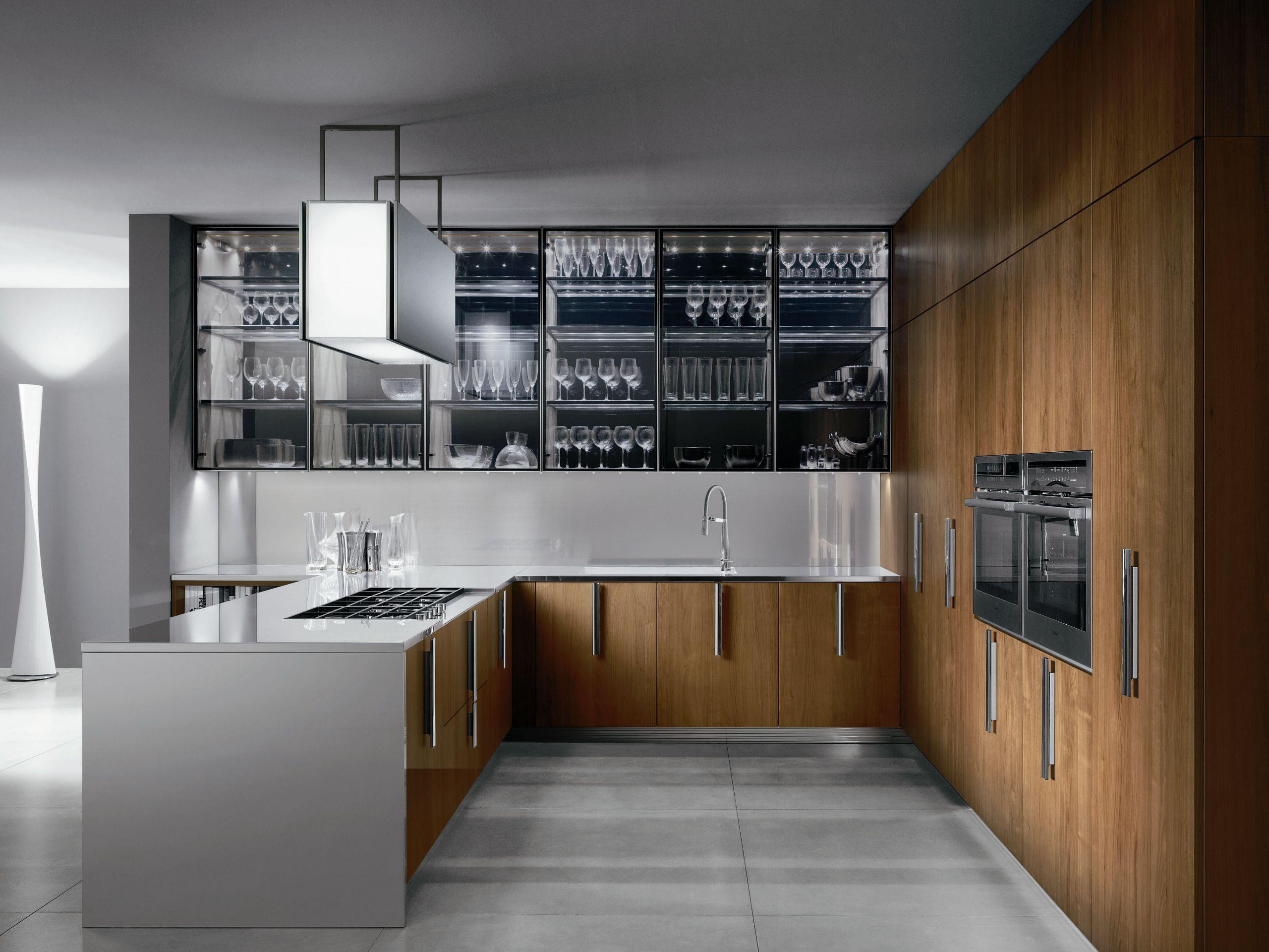 Cucina in legno con maniglie Cucina in acciaio Collezione Barrique ...