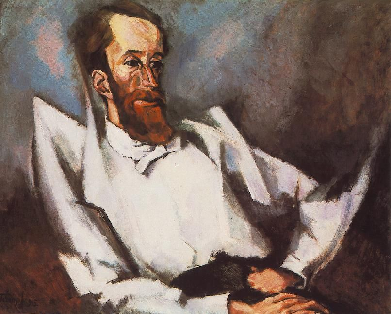 Portrait of Louis Fülep, 1915? by Lajos Tihanyi (Hungarian 1885-1938)