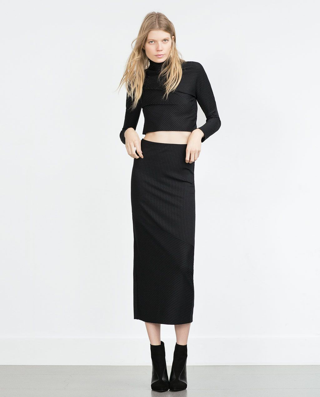 afd3aa1bde ZARA - NEW IN - LONG STRAIGHT SKIRT | Style and Trends in 2019 ...