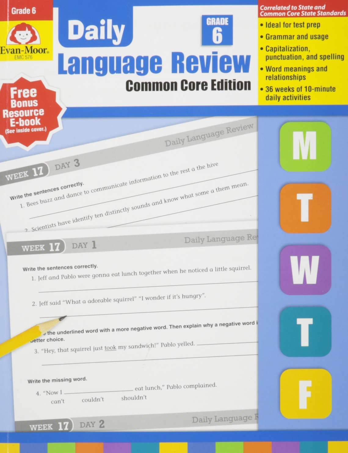 15 Daily Oral Language Worksheets 4th Grade