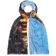Lily and Lionel - Printed cotton and bamboo blend scarf