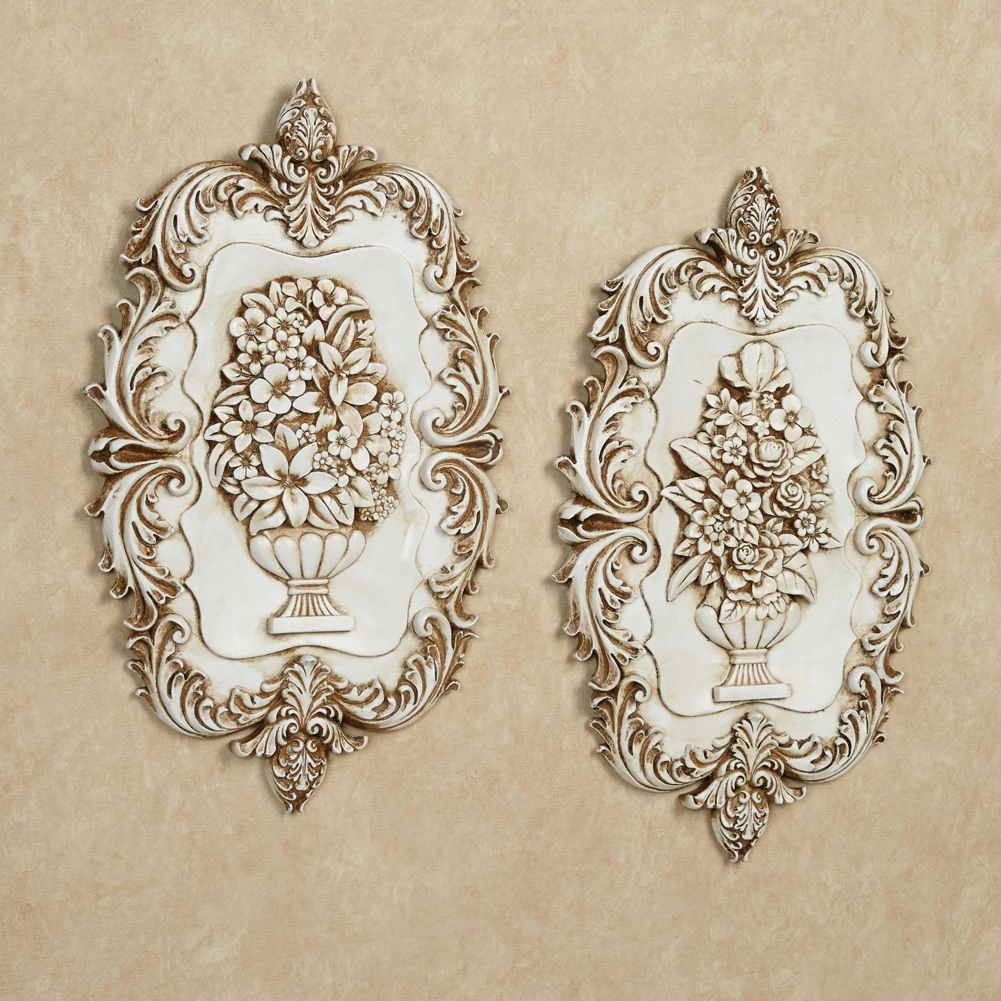 Bedroom Wall Plaques Victorian Blossoms Wall Plaque Set  Victorian Ivory And Walls