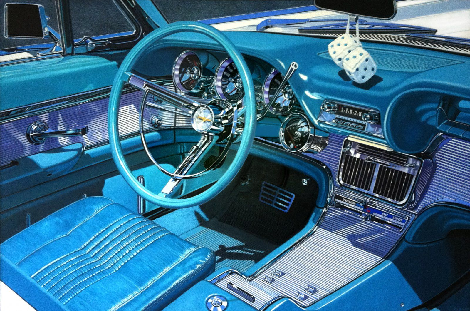1600x1058 6237 57 thunderbird 2d automotive old car interior picture image digital. Black Bedroom Furniture Sets. Home Design Ideas
