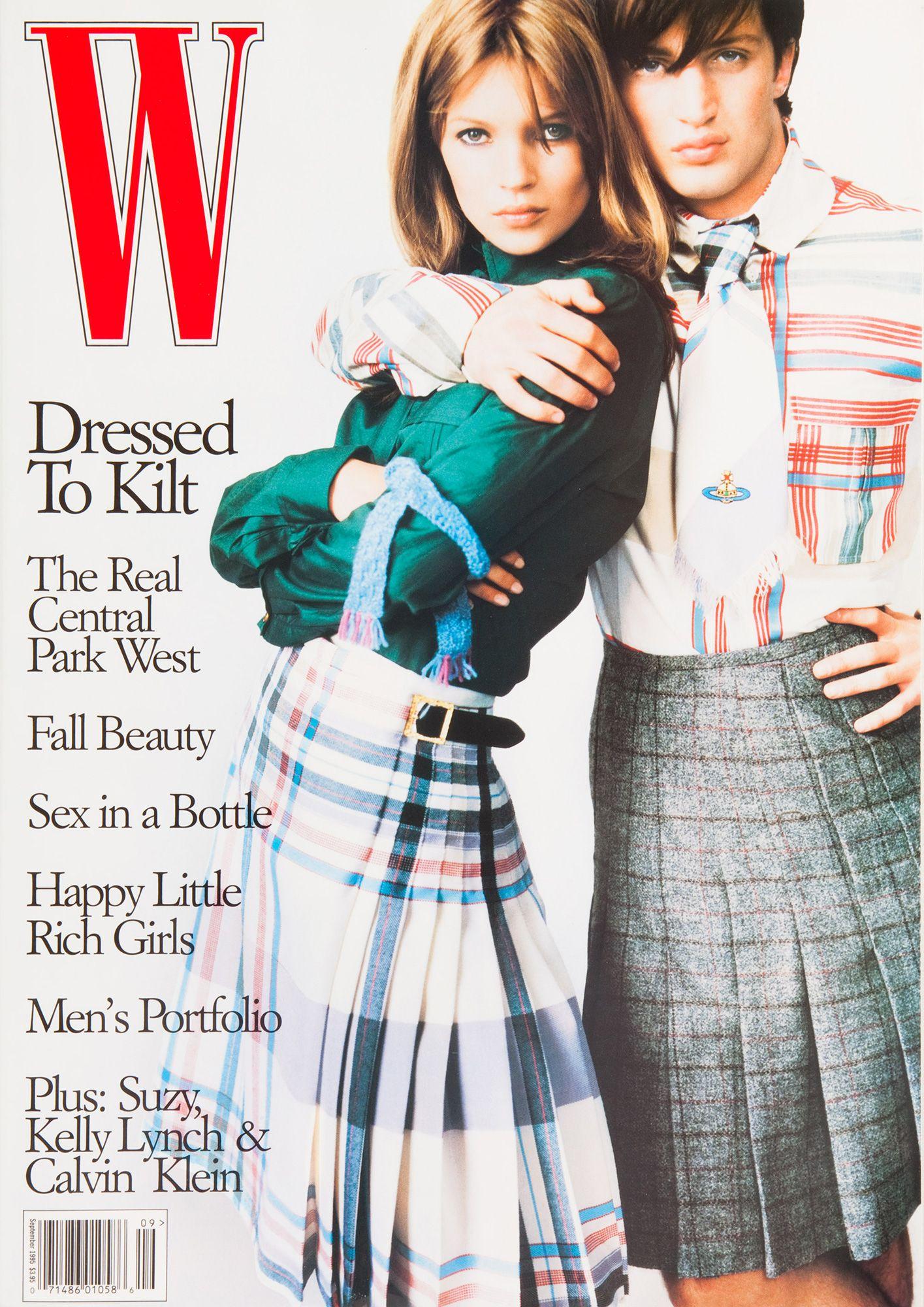<em>W</em> Magazine's Supermodel Cover Girls - Kate Moss on the cover of W Magazine September 1995-Wmag