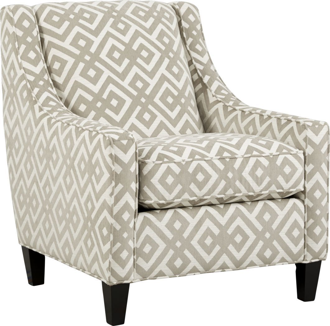 Cindy Crawford Home Chelsea Hills Beige Accent Chair In