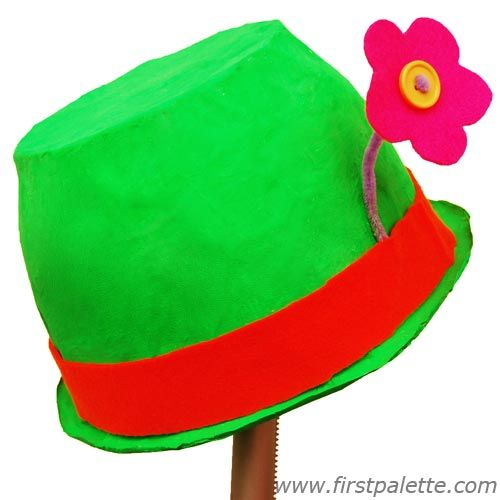 Papier mache clown hat craft circus crafts for kids for Craft hats for kids