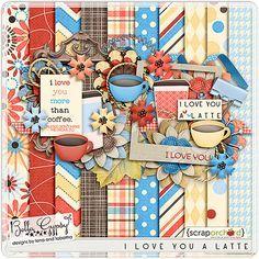Quality DigiScrap Freebies: I Love You A Latte mini kit freebie from Bella Gypsy Designs