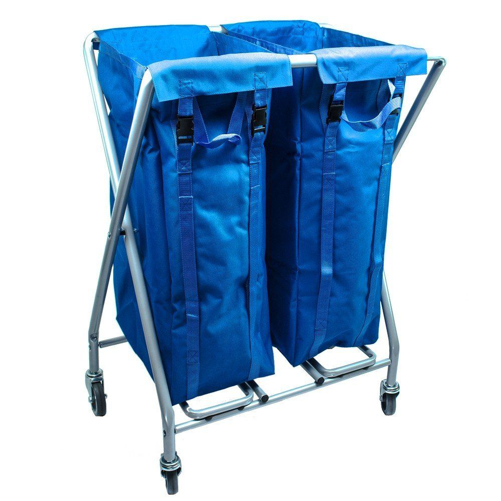Viva Brite Large 370 Litre Metal Commercial Laundry Trolley With Wheels