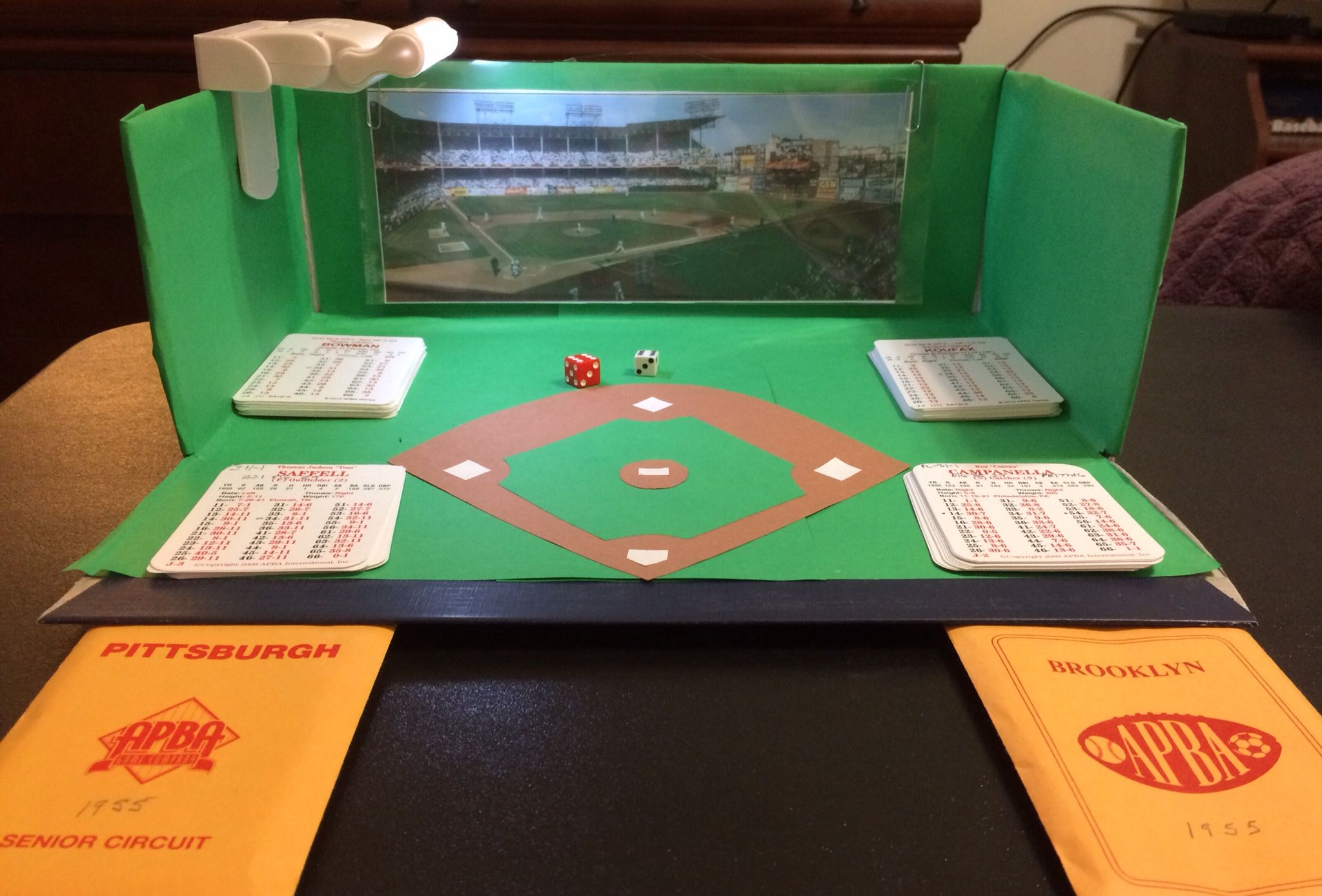 Apba Baseball Field From Shoebox And Construction Paper Baseball Project Construction For Kids Kids Construction Paper