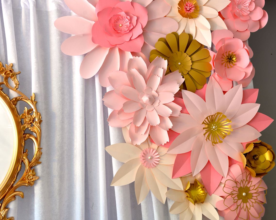 Paper Flower Backdrop Perfect For Dessert Or Candy Buffet Or Photo
