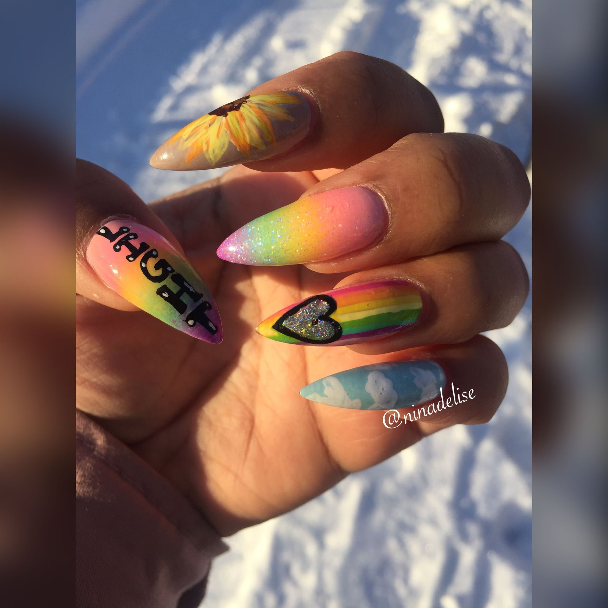 Hippie nails nails pinterest hippie nails