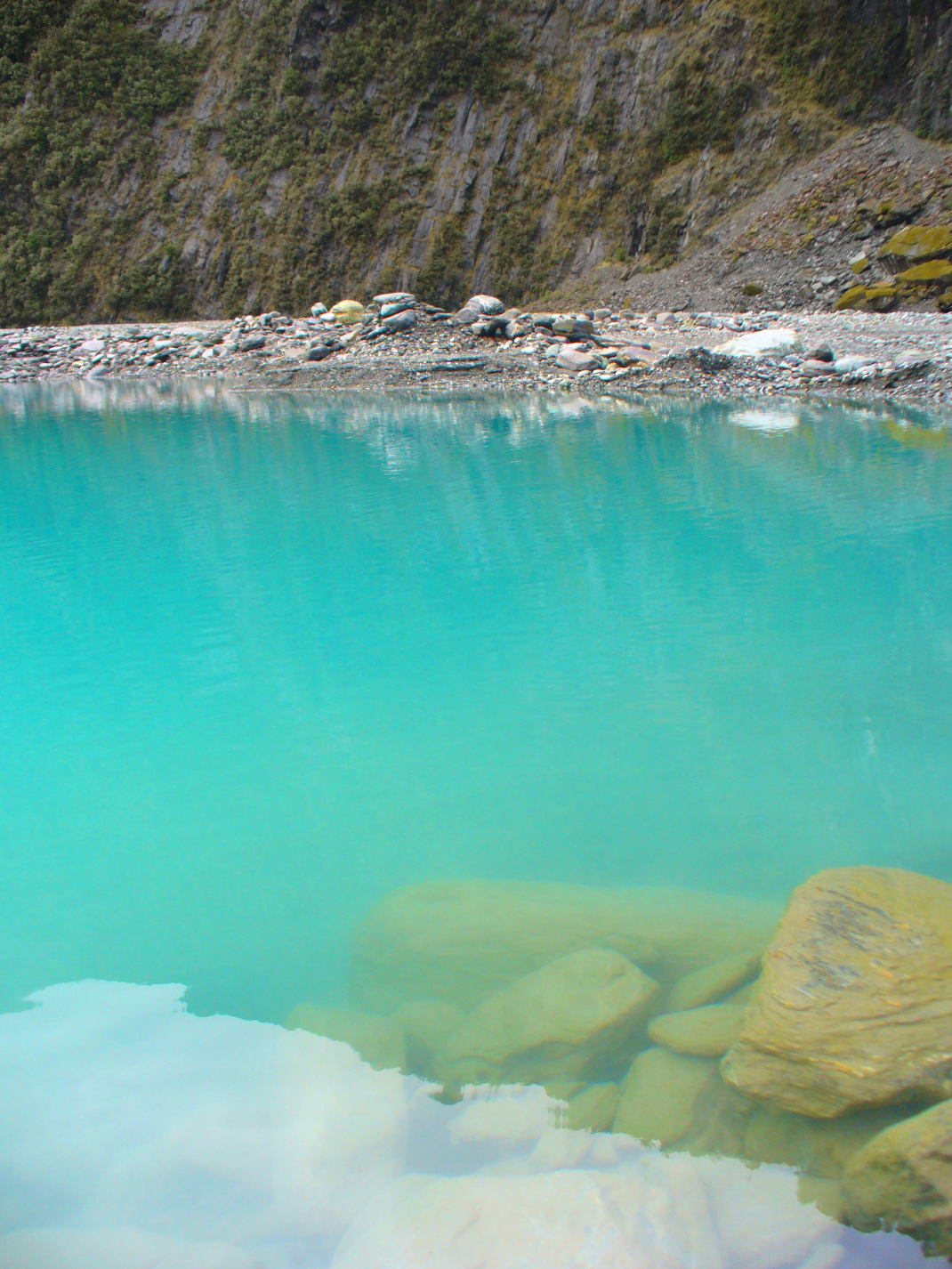 Icy pond at Fox Glacier, New Zealand Amanda Levick 2010