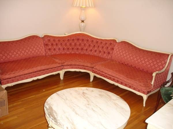 Philadelphia: FRENCH PROVINCIAL STYLE 3 PIECE SECTIONAL SOFA IN GOOD  CONDITION.   $150   Http://furnishlyst.com/listings/280389