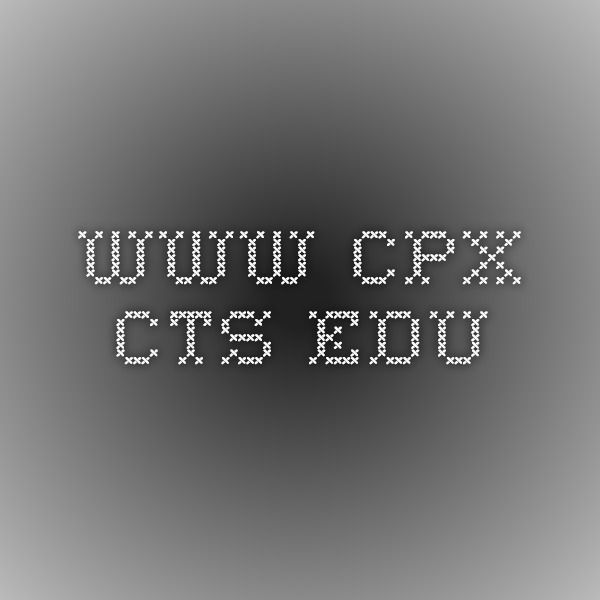 www.cpx.cts.edu