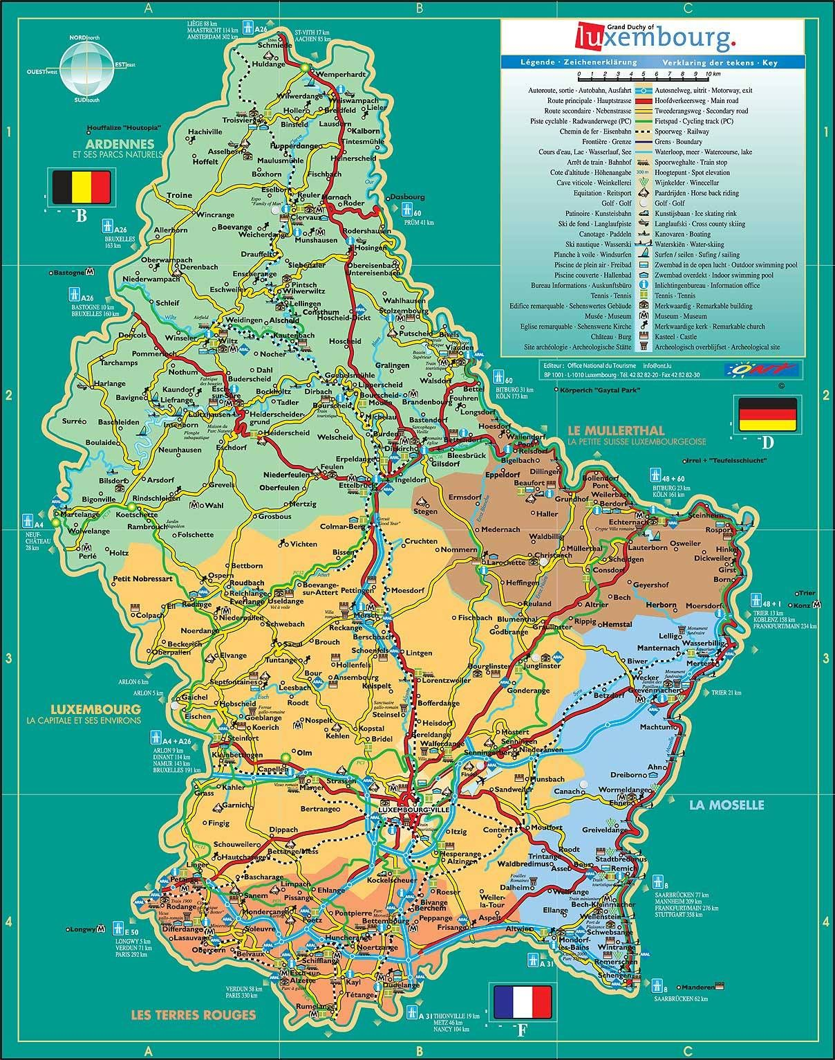 luxembourg | Luxembourg | Tourist map, Travel maps, Luxembourg