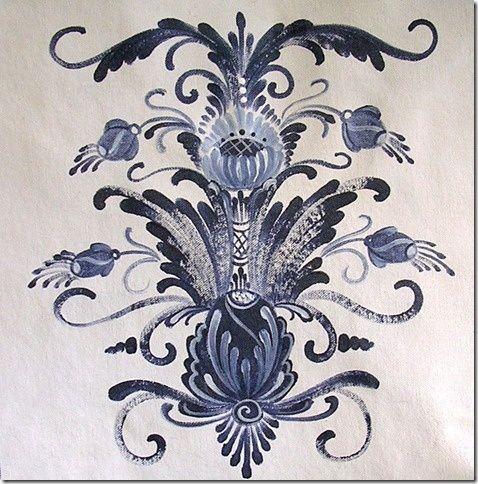 Stag Fox Bird Scandinavian Folk Art Folk Art Painting Pattern Art
