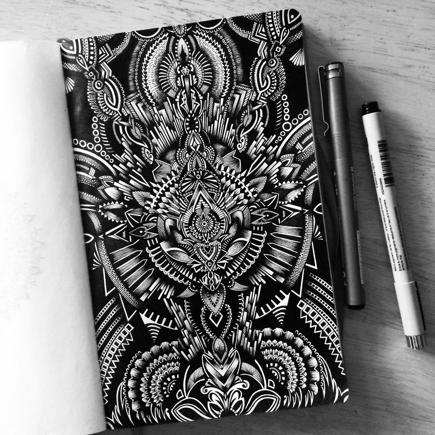 Find Myself Obsessing Over The Black And White Buffalo: I Am Obsessed With Drawing Super Detailed Art