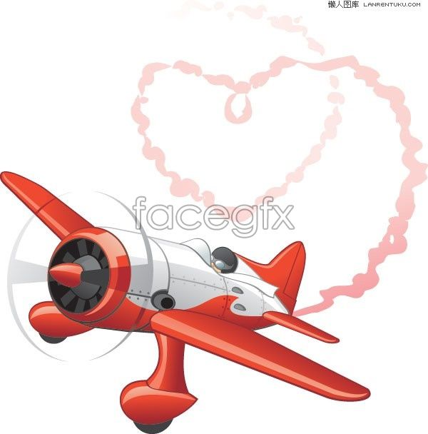 spewing out heart shaped smoke aircraft vector free vectors rh pinterest com