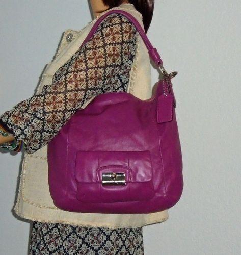 3d7e7321c711 COACH Kristin Raisin Leather Shoulder Hobo Bag . Starting at  88 ...