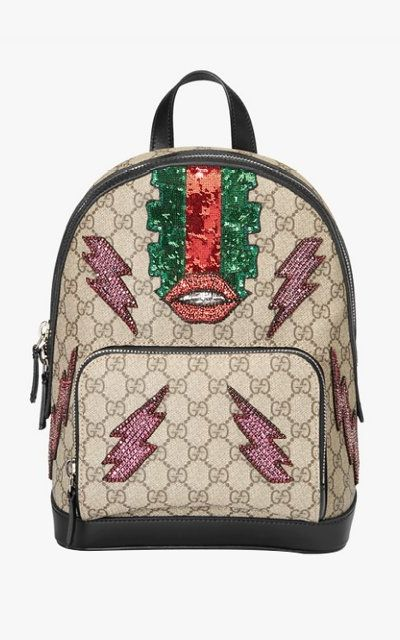 86a3d6f8d012 The Clueless Accessory You ll Want to Wear Right Now. Gucci Beaded Sky GG  supreme backpack
