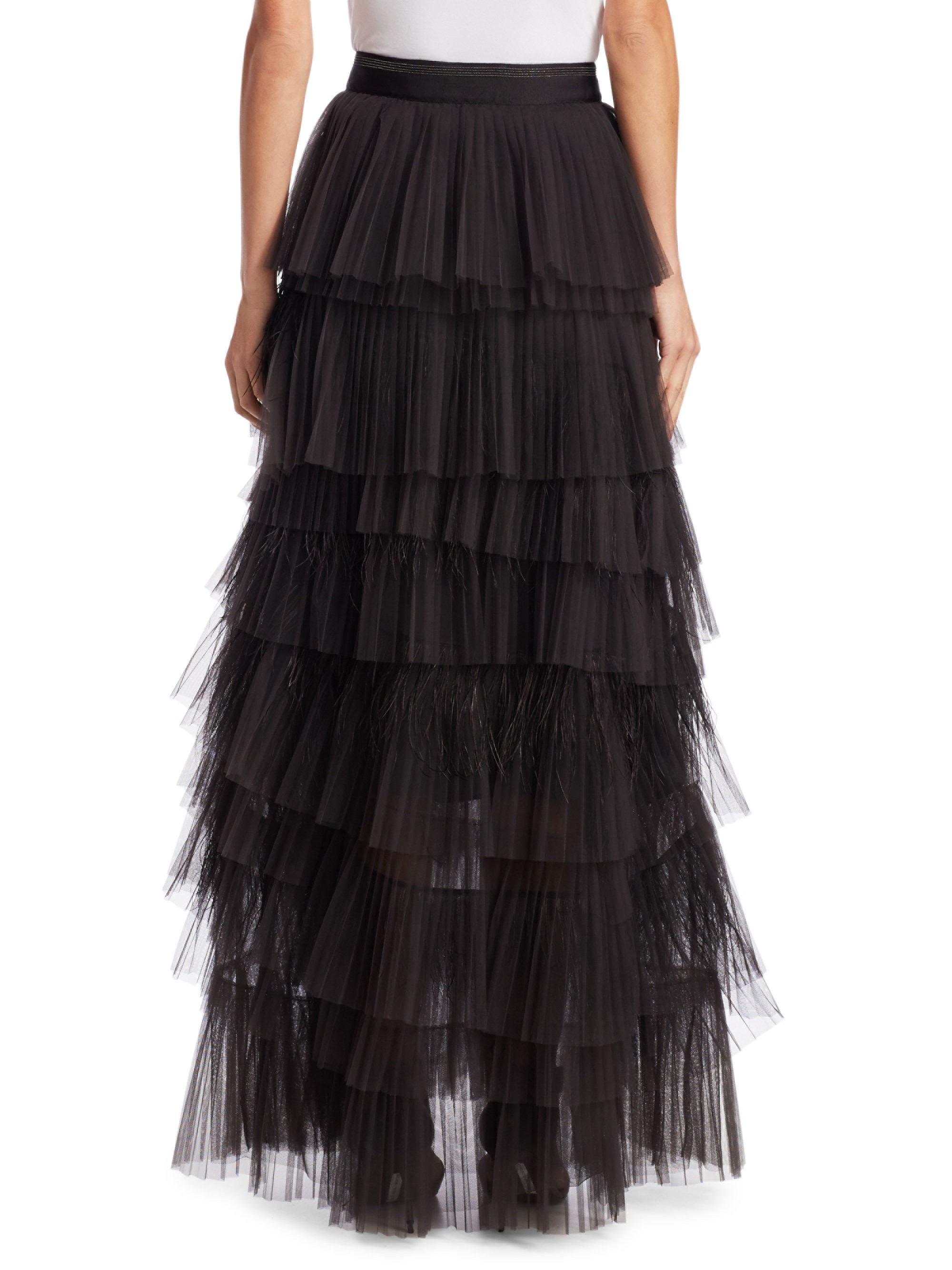 032205bf2 Tulle Tiered Maxi Skirt by BRUNELLO CUCINELLI in 2019 | Products ...