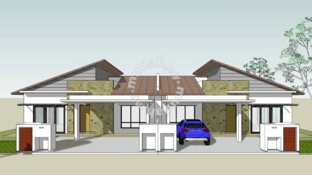 New Single Storey Semi D House Jalan Hamzah Kg Budiman Seksyen