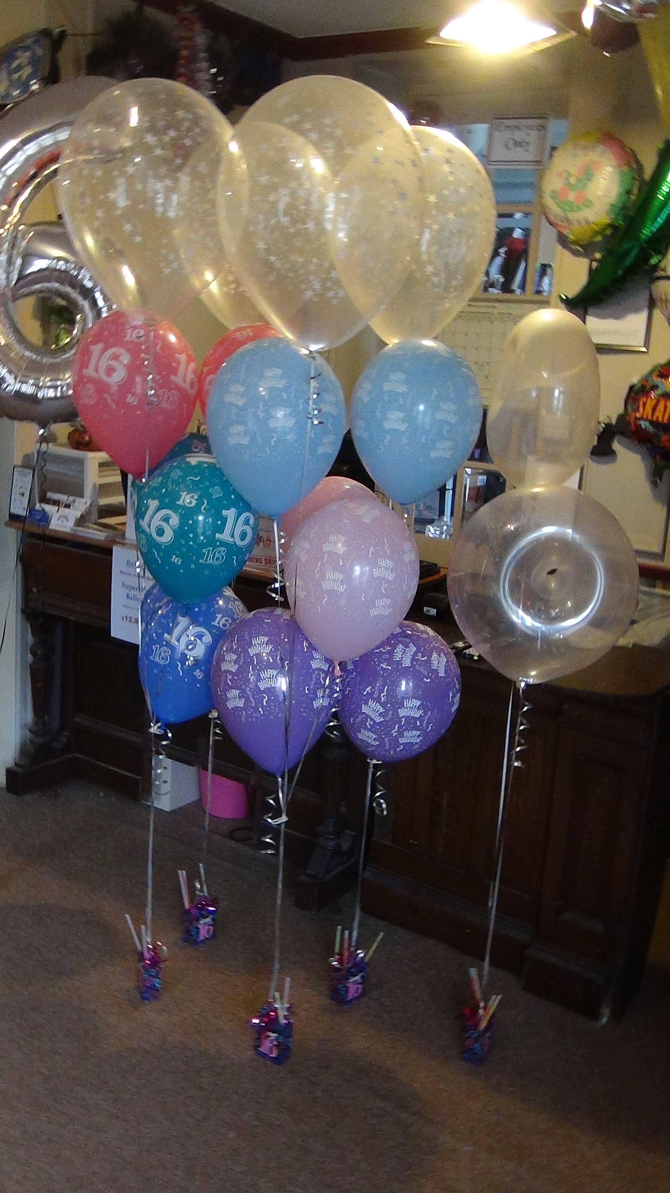 These Were Balloons Going Out To A Sweet 16 Always An Important Age