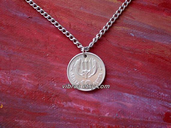 God poseidon trident authentic greek coin necklace pendant want 3 god poseidon trident authentic greek coin necklace by vibraa 999 aloadofball Choice Image