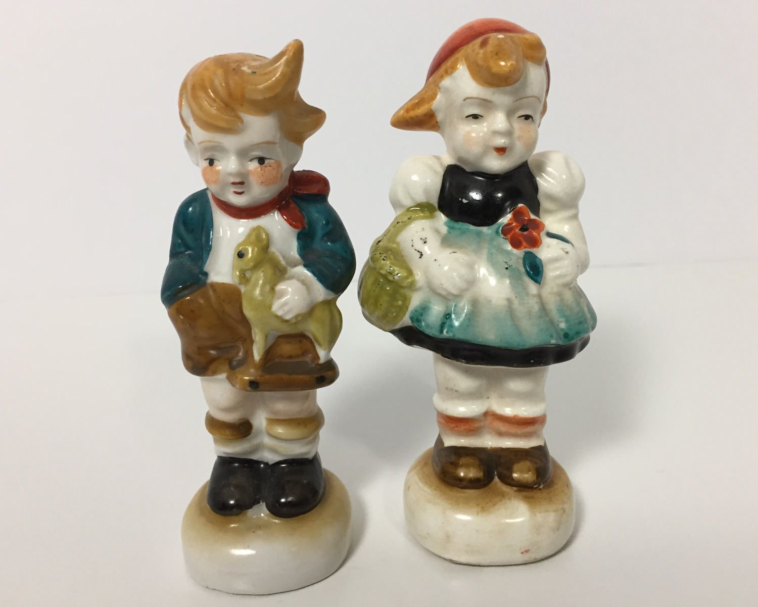 00233062a63b5 Vintage Novelty Little Boy and Girl Salt and Pepper Shakers - Made in  Occupied Japan Figural Shakers by BagBagSydVintage on Etsy