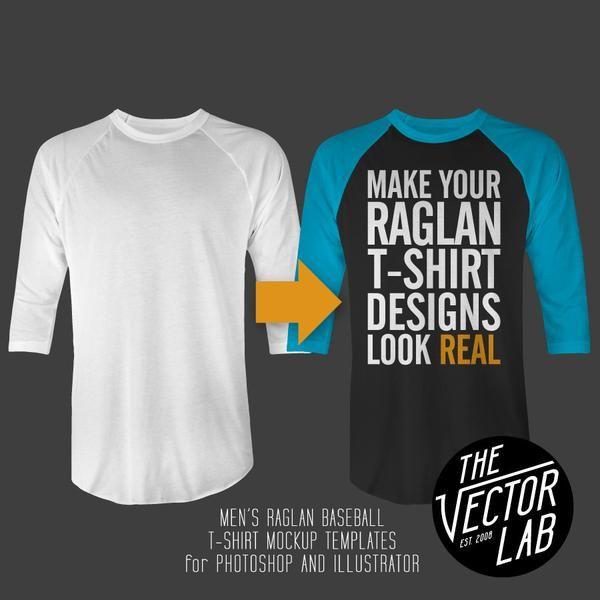 Men S Raglan Baseball T Shirt Mockup Templates For Photo And Ilrator