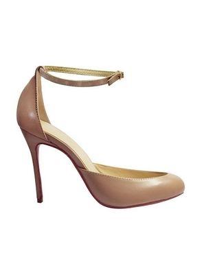 e5deb772e8cda8 VERONICA Ankle Strap Leather Pumps - 100MM... http   www.