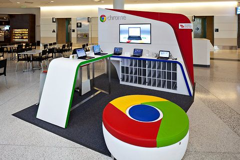 Marketing Exhibition Stand Zone : A chrome zone a pop up station for using google chromebooks in