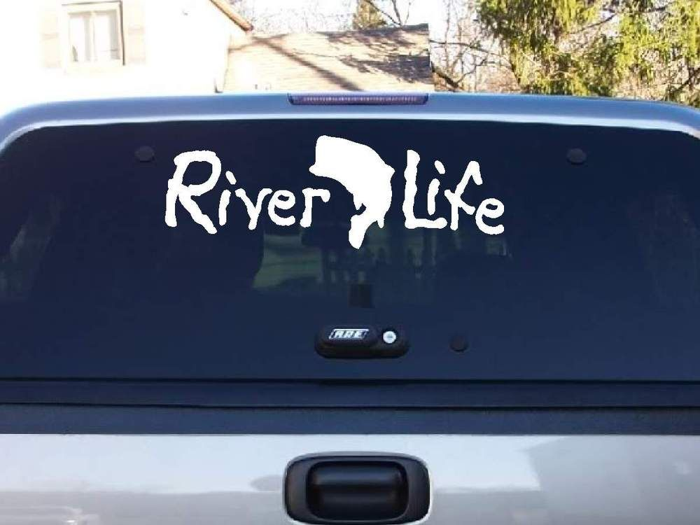 River Life Decal Rivers Cricut And Car Window Decals - Window decals for cars sports