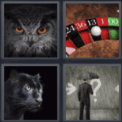 4 pics 1 word owl black jack 13 on black panther man in suit and 4 pics 1 word owl black jack 13 on black panther man in suit and umbrella rain find the answers here you have the word you are looking for expocarfo Images