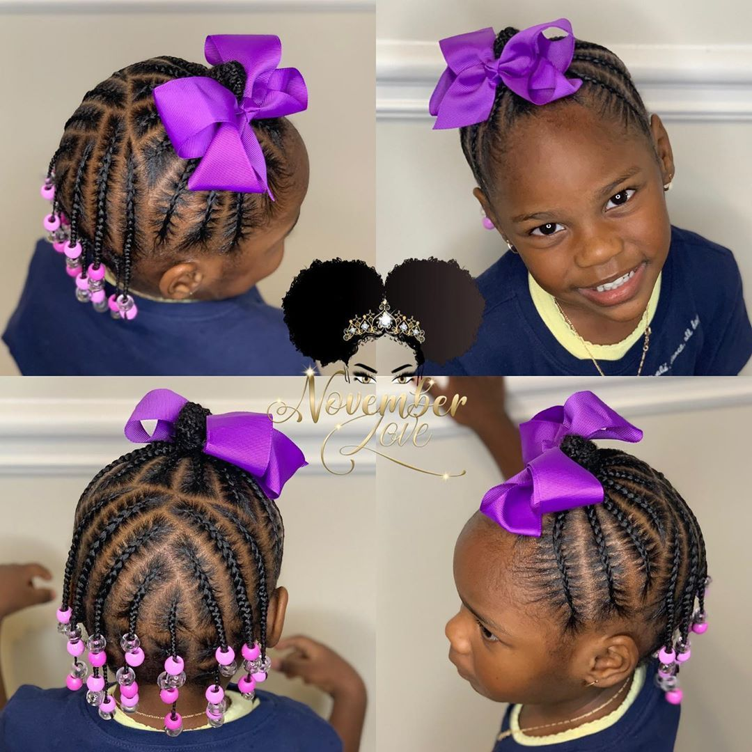 Children S Braids And Beads Booking Link In Bio Childrenhairstyles Braidart Childrensbra Toddler Braided Hairstyles Braids For Kids Kids Braids With Beads
