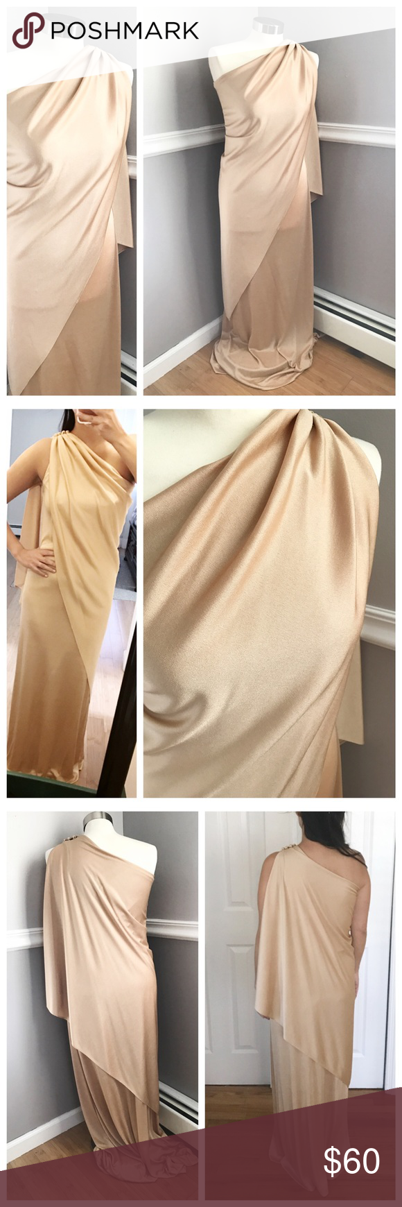 Vintage s gold long dress pinterest floor length dresses