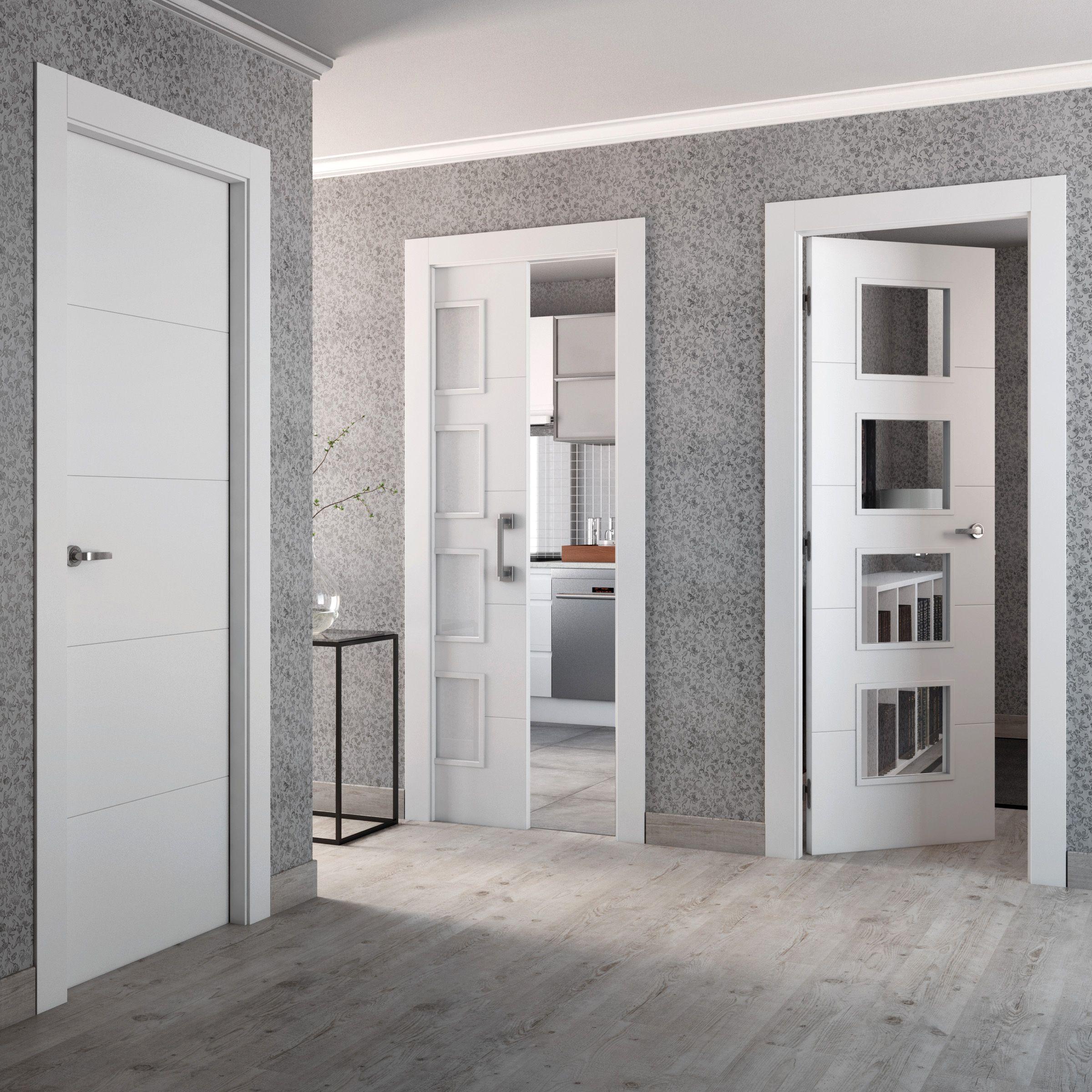 Pin de cristal jim nez pe a en habitaciones puertas - Puertas interior blancas ...