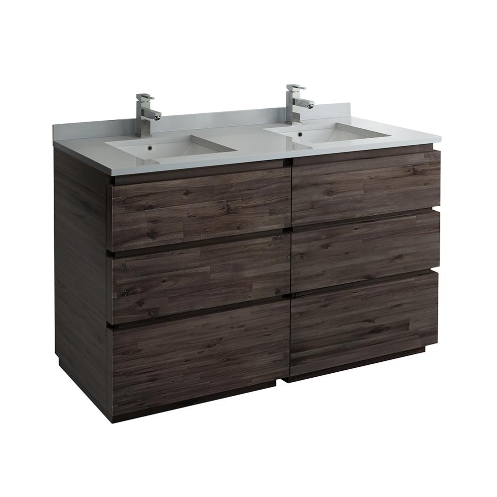 Fresca Formosa 58 In W Modern Double Vanity Cabinet Only In Warm