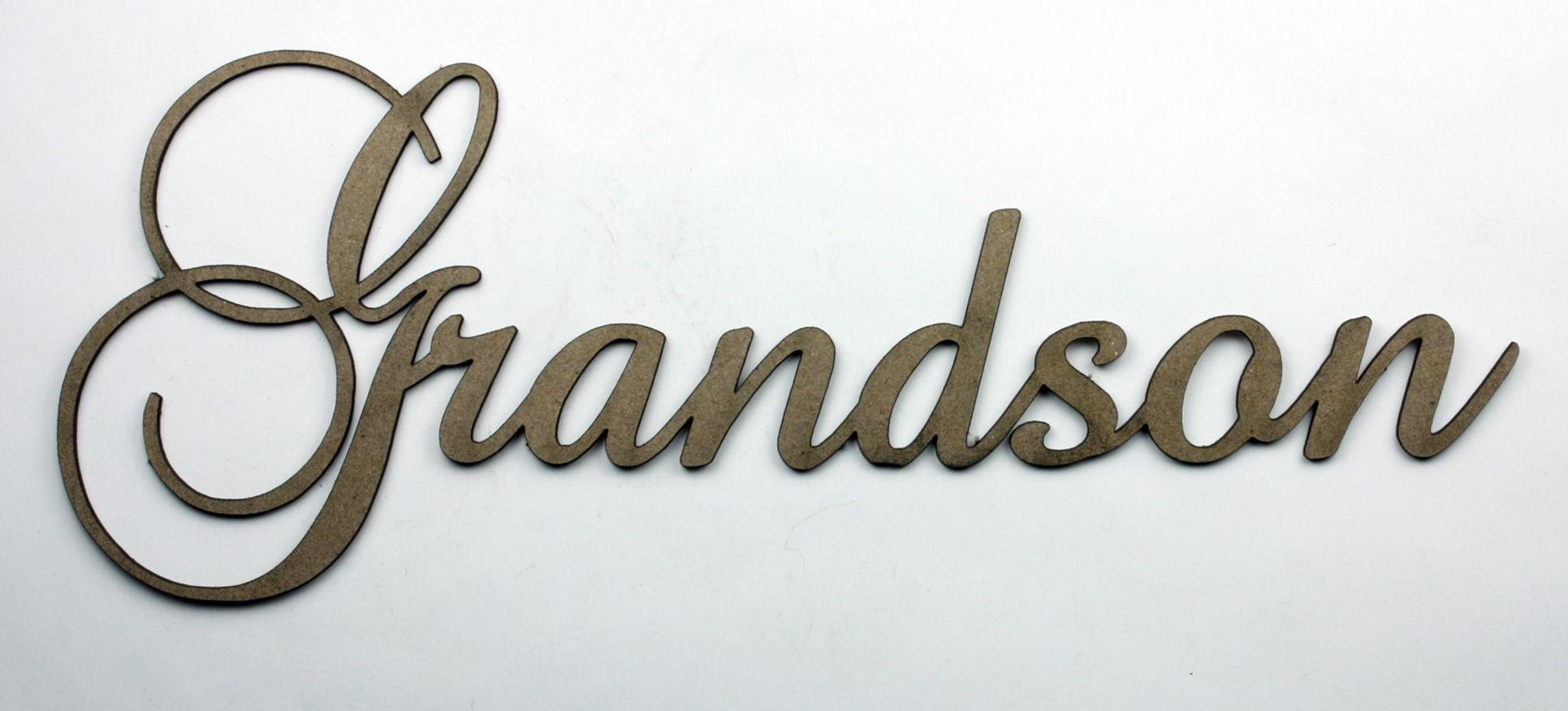 Grandson - Fancy Chipboard Word