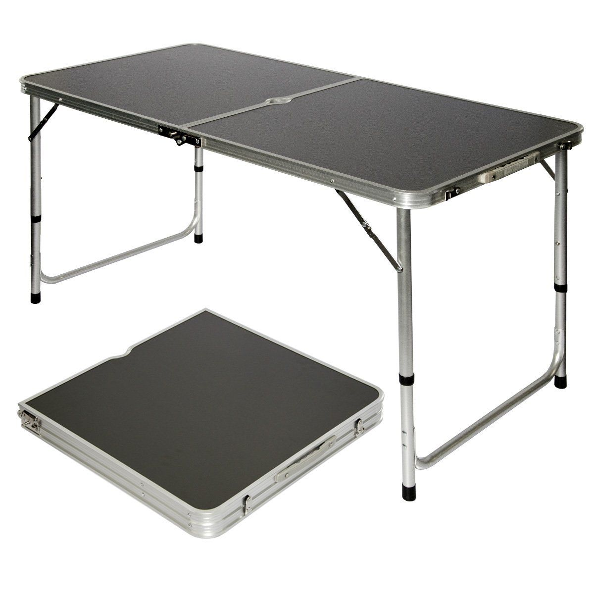 Amanka Table De Camping Pique Nique Pliable Reglable En Hauteur 120x60x70cm En Aluminium Pliant Format Mallett Table Camping Table De Pique Nique Table Pliable