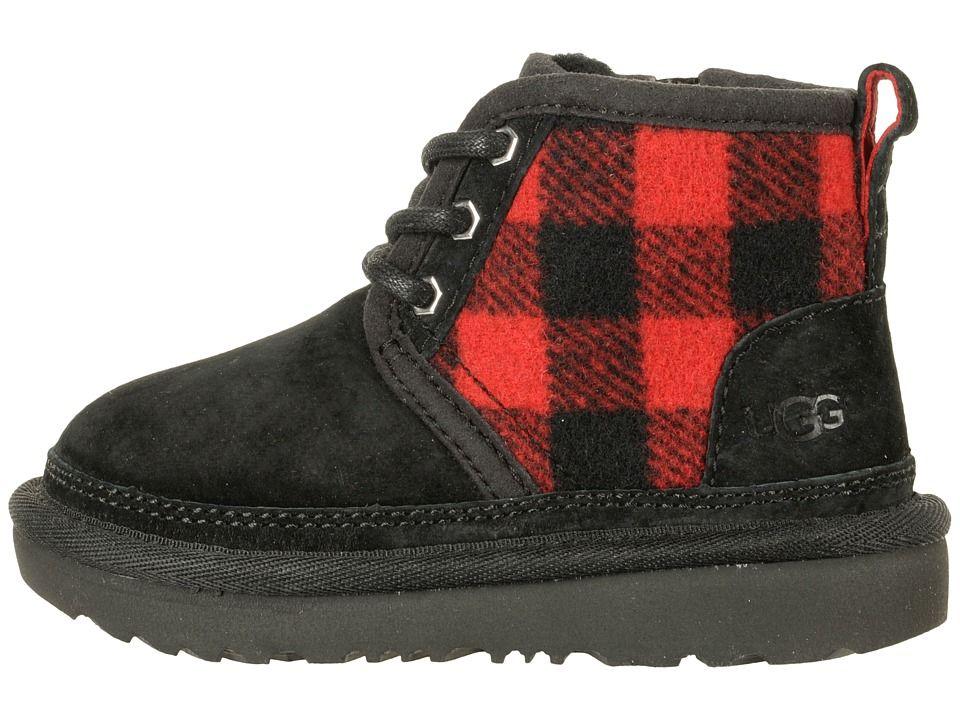 a2e9e698b25 UGG Kids Neumel II Plaid (Toddler/Little Kid) Boys Shoes Redwood ...