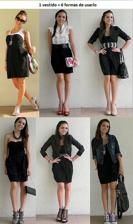 1 Vestido 6 Looks Diferentes Truco Para Usar Un Vestido Como Si Fuera Una Falda Ponte Un Cinturon Ancho Y Dobla La Camisa Para Que Ropa Vestir Bien Moda