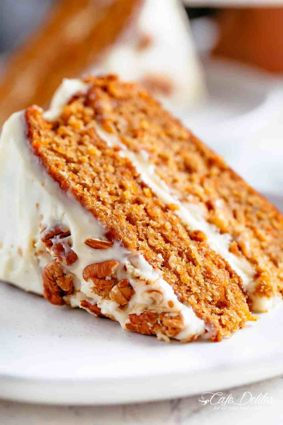 This Super Easy Carrot Cake Recipe With Cream Cheese Frosting Will Become Your New Favou Carrot Cake Recipe Homemade Carrot Cake Recipe Easy Carrot Cake Recipe