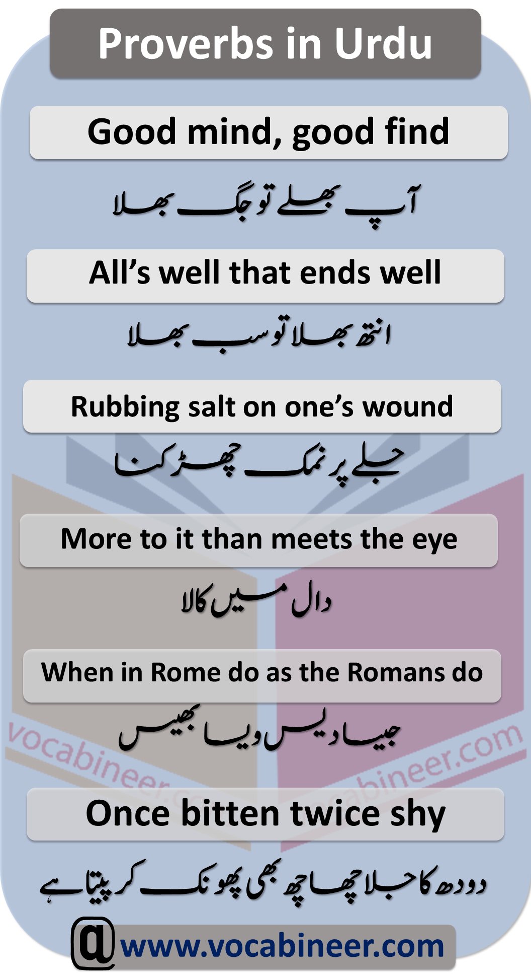 50 Proverbs Meaning In Urdu | Urdu to English Prov