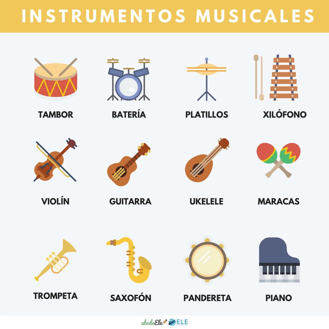Instrumentos Musicales By Abcdeele Vocabulario Instrumentos Musicales Vocabulario Español