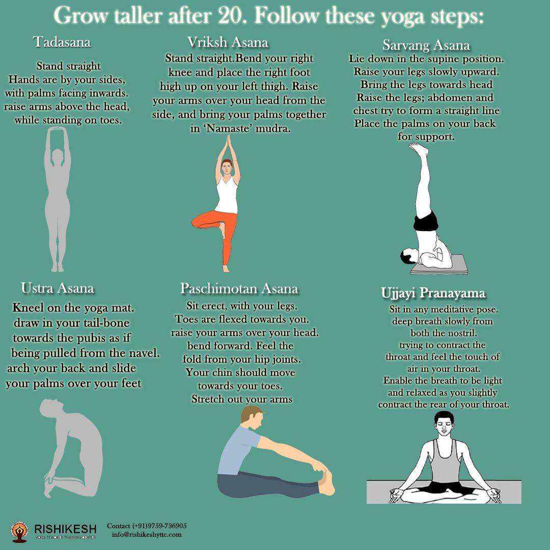 Grow Taller After 20 Follow These Yoga Steps Yoga School 200 Hour Yoga Teacher Training Yoga Teacher Training Course