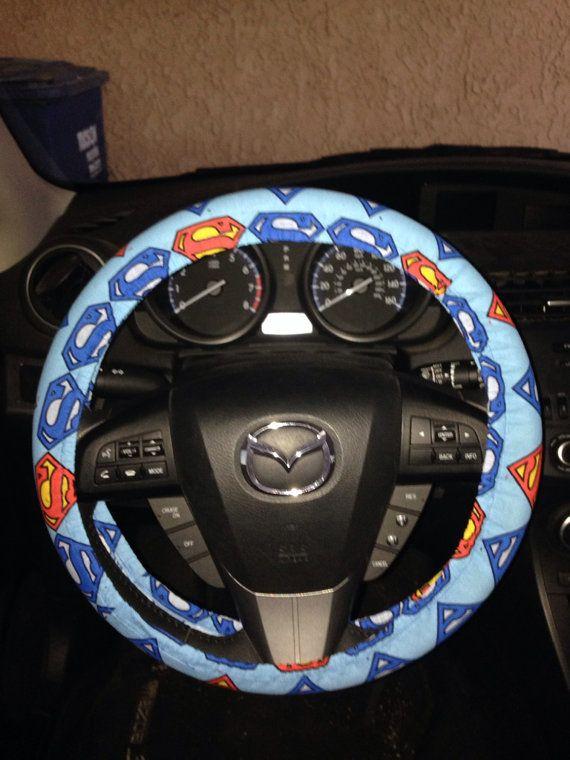 Superman Steering Wheel Cover Steering Wheel Cover Wheel Cover