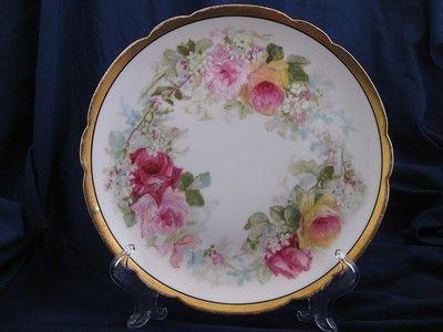 Limoges Coronet M de Mavaleix Cabinet Plate What a beautiful cabinet ...